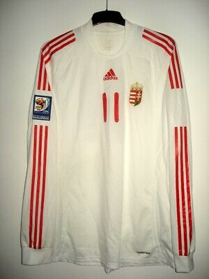 Adidas HUNGARY #11 MATCH WORN Qualifiers 2010 Shirt Jersey Trikot vs DENMARK  image