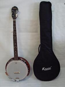 5 String Banjo, Remo Head, Free Gig Bag, Brand New