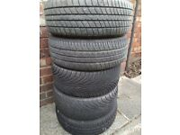 Alloy Wheels 4 x taken off Honda Civic 2000 - Good Tyres - will fit other cars