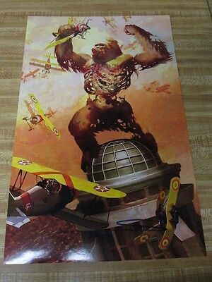 King Kong comic artwork 11x17 autographed by illustrator