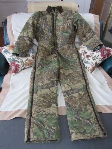 Duxbak Realtree Camo Insulated Coveralls USA Made Men's Large Regular 15K180RA