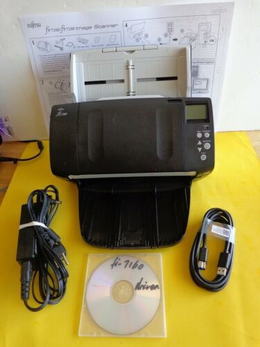 Fujitsu fi-7160 Scanner; Fully Tested, Less Than 44500 Scanned; Works Great!