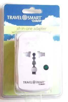 CONAIR TRAVEL SMART ALL-IN-ONE ADAPTER with Surge Protector Foreign Outlet (Conair All In One)