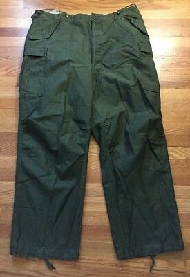 Vintage 50s KOREA War US Army Military Trousers Shell Field M-1951 Uniform Pants