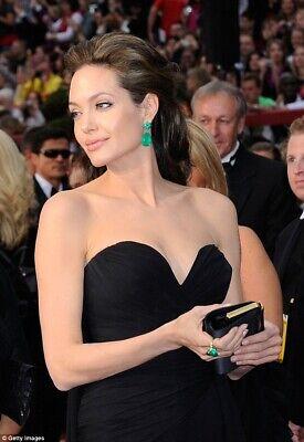 ANGELINA JOLIE STYLE THE INCREDIBLE NEON GREEN EMERALD EARRINGS EXOTIC NEON (Jolie Style)
