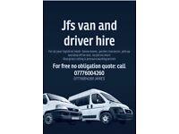 Jfs van & driver hire