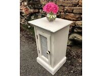 Hand painted shabby chic cupboard, cabinet, bedside or living room table, storage unit