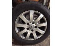Vw MK5 golf 2004-2009 alloys wheel with tyres