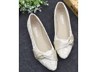 Bridal wedding flat shoes size 6