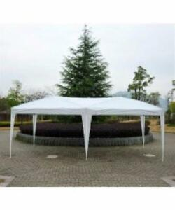 White Popup 10' x 20' Canopy Tent / Waterproof Party Event Tent part tent for Sale
