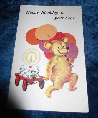 Planning First Birthday (1970s HEINZ PROMOTIONAL BABY'S FIRST BIRTHDAY CARD, VGC, AUST INSURANCE)