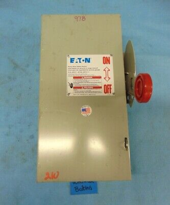 Eaton Safety Switch 30 Amp 3 Pole 600v Ac Max 250 V Dc Max Dh361ugk