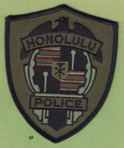 HONOLULU HAWAII  POLICE SUBDUED  SHOULDER PATCH  (Green)