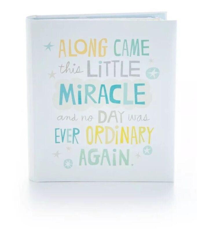 Hallmark Little Miracle Baby Boy 5 Years Of Memories Baby Book Journal