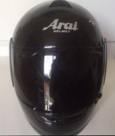 Arai Condor crash helmet black medium + extra tint visor