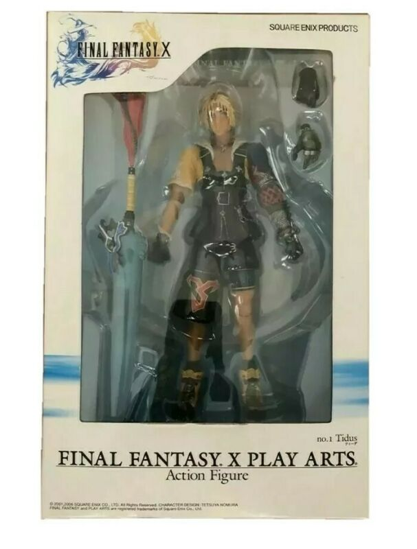 Final Fantasy X FF10 Play Arts No.1 Tidus Action Figure, BRAND NEW IN BOX