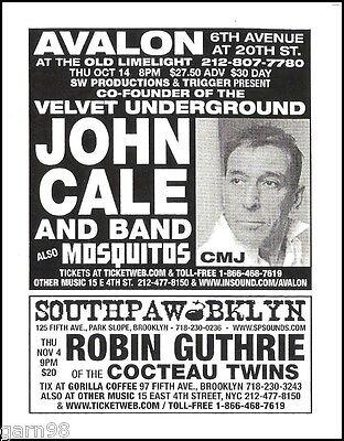 John Cale of Velvet Underground Concert Handbill Flyer NYC 2004