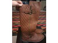 Tan brown boots size 6 /39
