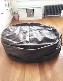 Brown Leather Bean Bag