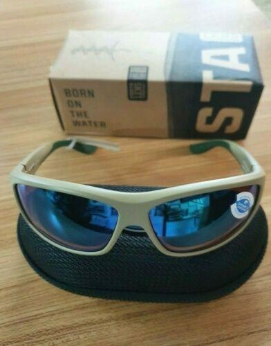 Costa Del Mar Saltbreak Matte Sand BK 248 OGMGLP Sunglasses Green Mirror 580G