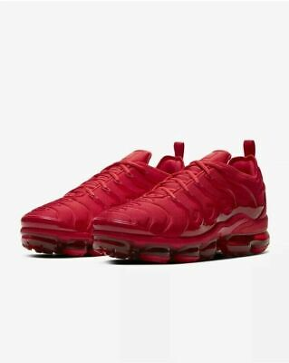 Nike Air VaporMax Plus Casual Shoes Triple Red CW6973-600 Men's NEW