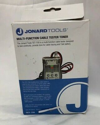 Jonard Tools Tet-700 Cable Tester And Tonersolidst Circuitry