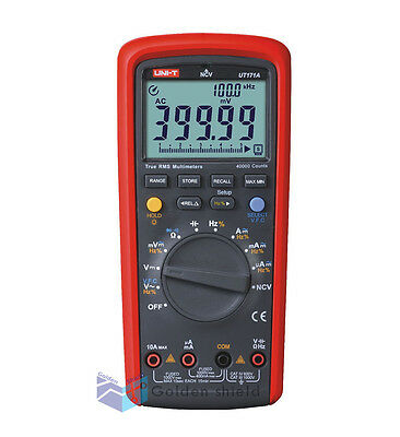 True Rms Digital Multimeter 40000counts Auto Range Data Store Vfc Ncv Usb Ut171a