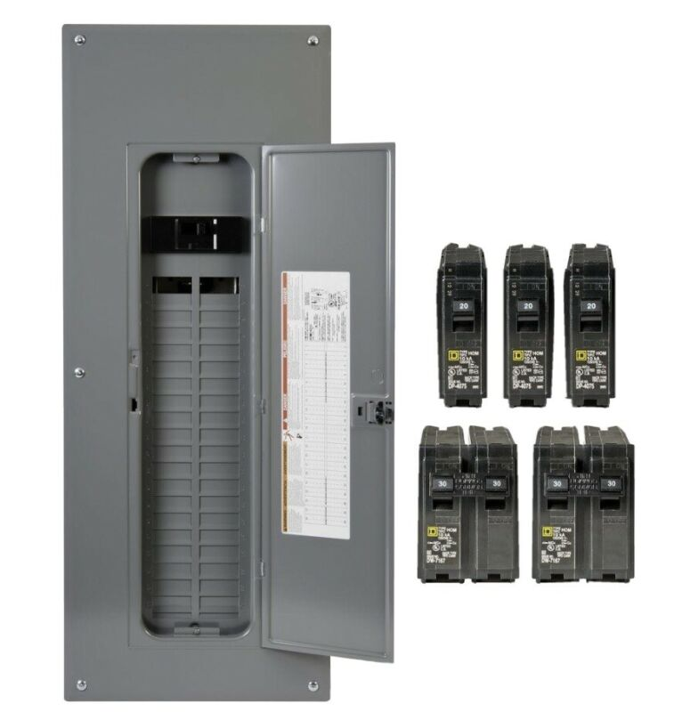 Homeline 200 Amp 40 Space 80-Circuit Indoor Main Breaker