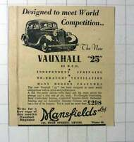 1937 Mansfield's High Street Lewes Vauxhall Dealers -  - ebay.co.uk