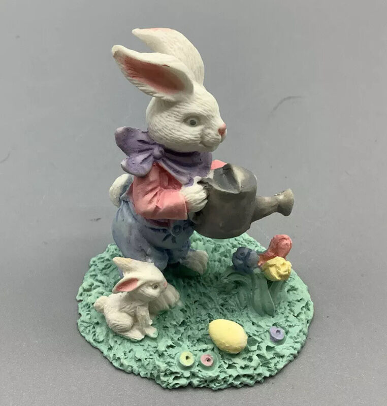 Midwest Of Cannon Falls Cottontail Lane Bunny With Water Can Vintage