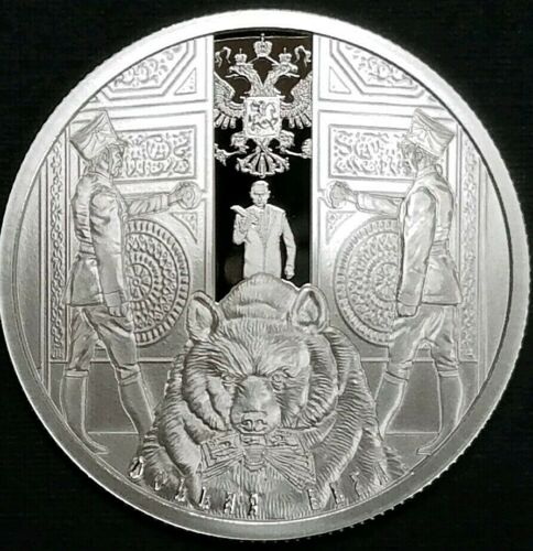 2019 Death of The Dollar Series # 21 Russia 1 Oz .999 Fine Silver Proof Coin
