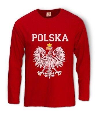 POLSKA EST WHITE EAGLE CREST Long Sleeve T-Shirt poland polish flag Football Fan Eagle White Long Sleeve