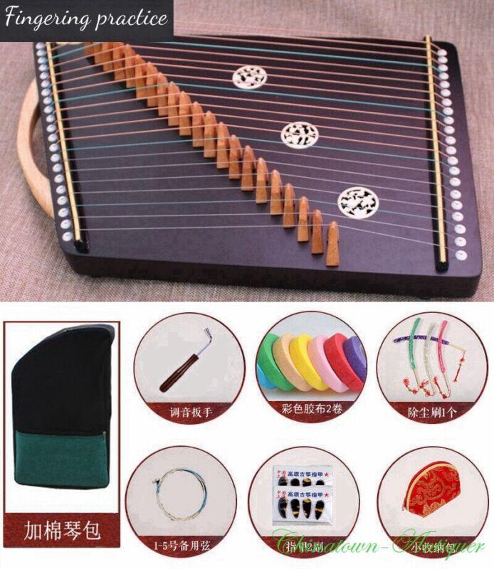55 cm 21-String Guzheng Zither Harp Koto Fingering Finger Practice Tool 练指器#2929