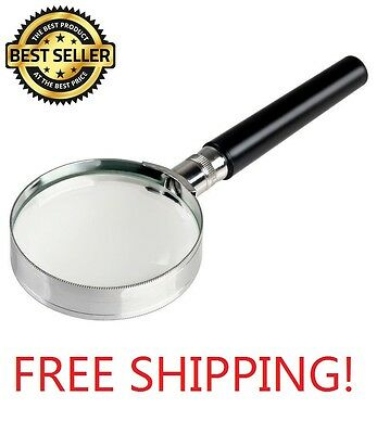 Magnification Handheld 10x Magnifier 2 inches Magnifying Glass Handle 50mm