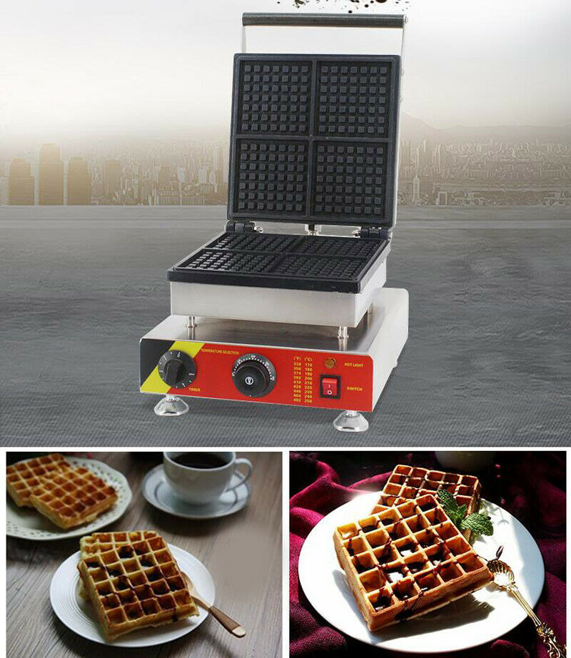 Belgian Waffle Maker Panini Press Snacks Breakfast Hash Brow