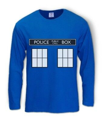 POLICE BOX doctor series Long Sleeve T-Shirt TARDIS who Easy Halloween Costume](Tardis Halloween Costume)