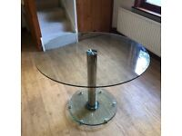 Glass dining table 105cm diameter