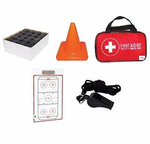 Hockey Coach Starter Package - Free Shipping - 15% Off - Pucks Pylons First Aid Kit Dry Erase Board Lanyard Whistle