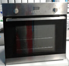 w432 stainless steel lamona single integrated electric oven comes with warranty can be delivered