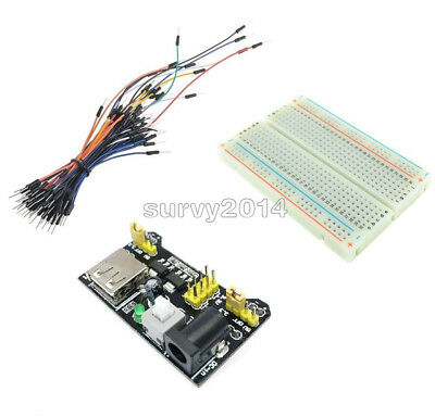 65pcs Jump Cable Wiresmb102 400 Point Solderless Pcb Breadboardpower Supply