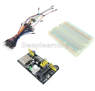 65pcs Jump Cable Wiresmb102 400 Point Solderless Pcb Breadboardpower Supply D