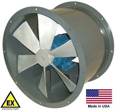 Tube Axial Duct Fan - Explosion Proof - Direct Drive - 24 - 115230v 5200 Cfm