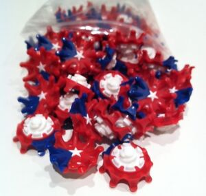 ... 50 Pulsar Cleats - Red, White & Blue Star Fast Twist Thread (50 ct