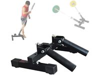 Tricep bar solid, 2 x 7.5kg, 4 x 1.25kg weights, TOTAL 28kg