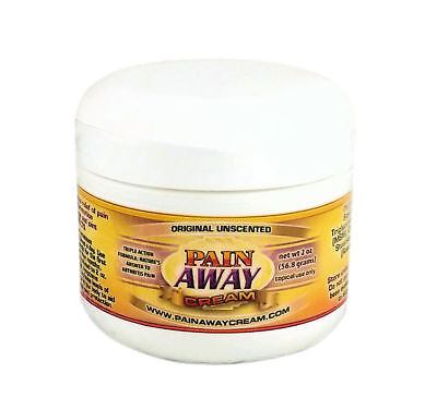 Pain Away Cream - 2 Oz - Unscented - Arthritis and Neuropathy Pain Relief Cream