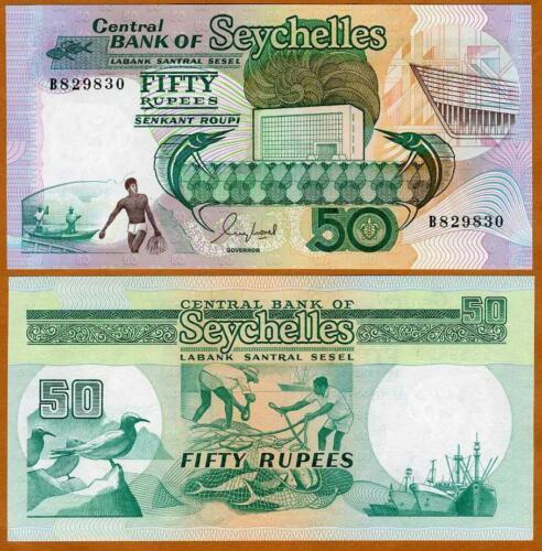 Seychelles, 50 rupees, ND (1989), P-34, UNC