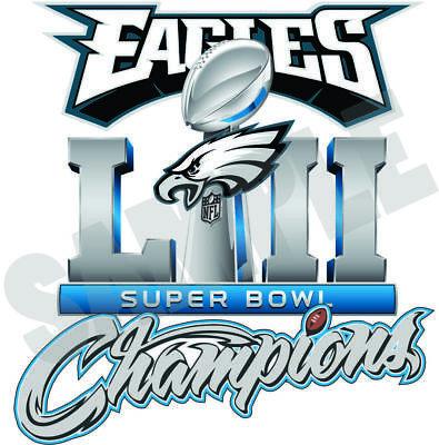 Philadelphia Eagles 2018 Super Bowl Champions 52 Decal   Sticker