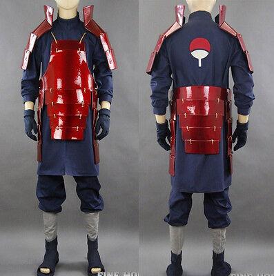Naruto Uchiha Madara Akatsuki Cosplay costume Kostüm set Schuhe Rüstung - Madara Uchiha Akatsuki Kostüm