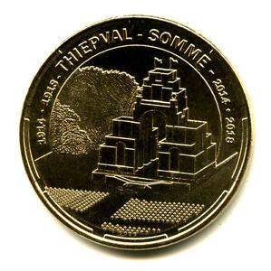 80 THIEPVAL Mémorial 2, 1914-1918, 2014, Monnaie de Paris - France - Type: Monnaie de Paris Thme: Patrimoine culturel Epoque: XXIme sicle Genre: Médaille Touristique Année: 2014 Métal: Nordic Gold - France