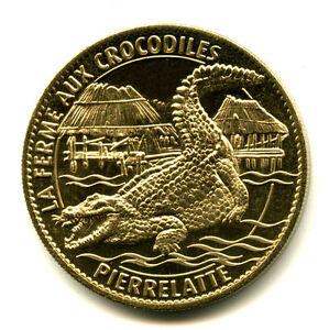 26 PIERRELATTE Crocodile du Nil, 2011, Arthus-Bertrand - France - Type: Arthus-Bertrand Thme: Animaux Epoque: XXIme sicle Genre: Médaille Touristique Année: 2011 - France